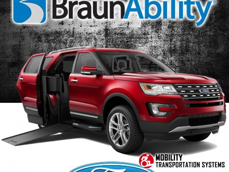 New 2019 Ford Explorer.  ConversionBraunAbility MXV Wheelchair SUV